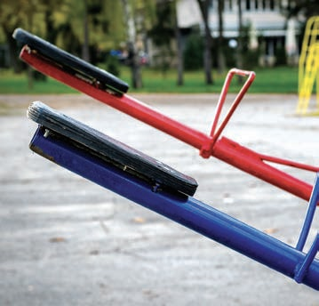 See-saw in a playground