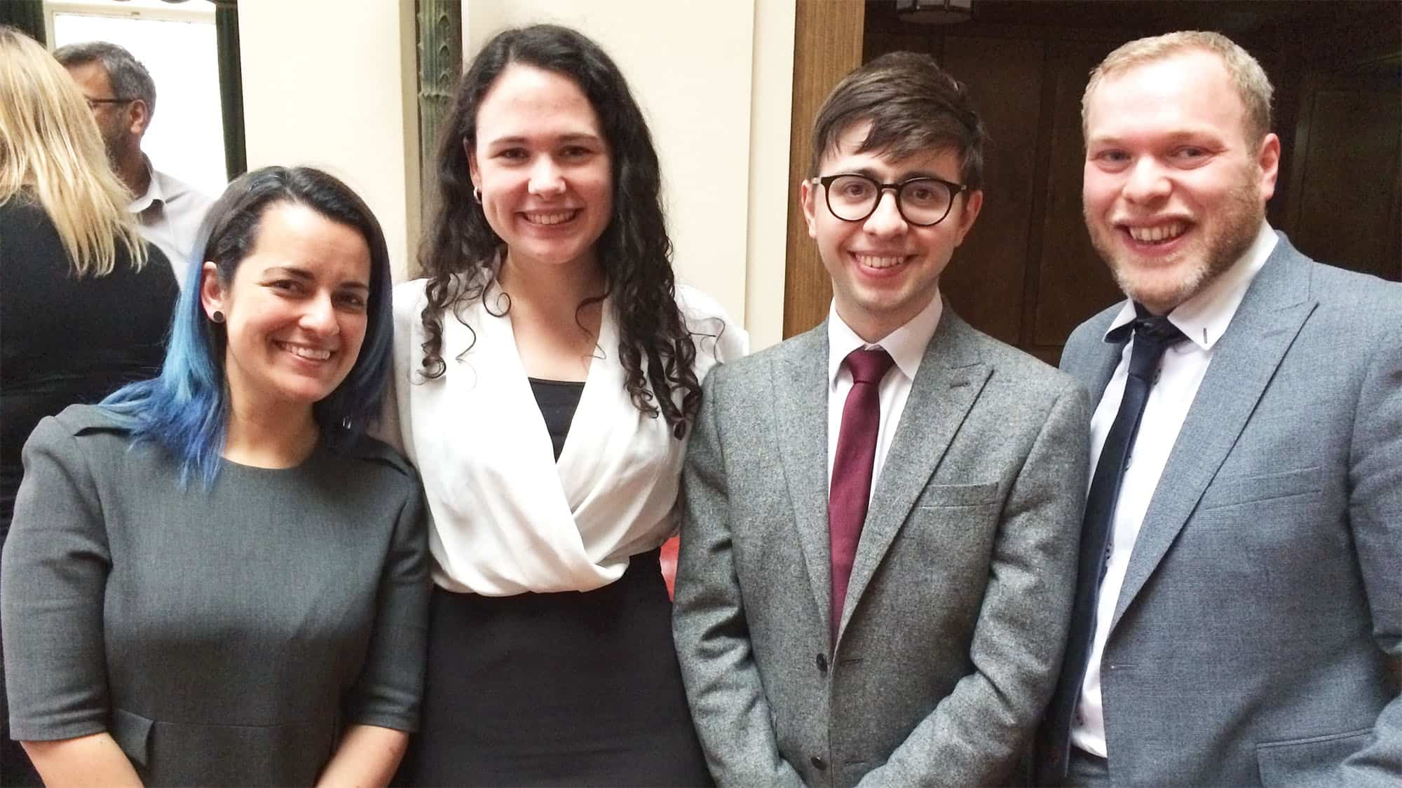 the four finalists of the Local Government challenge smiling