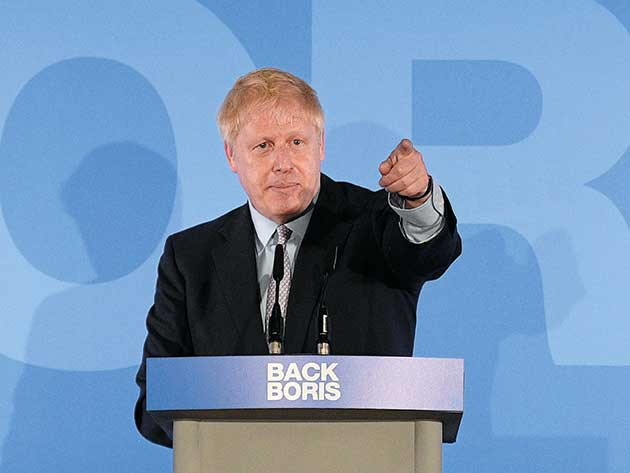 Boris Johnson pointing