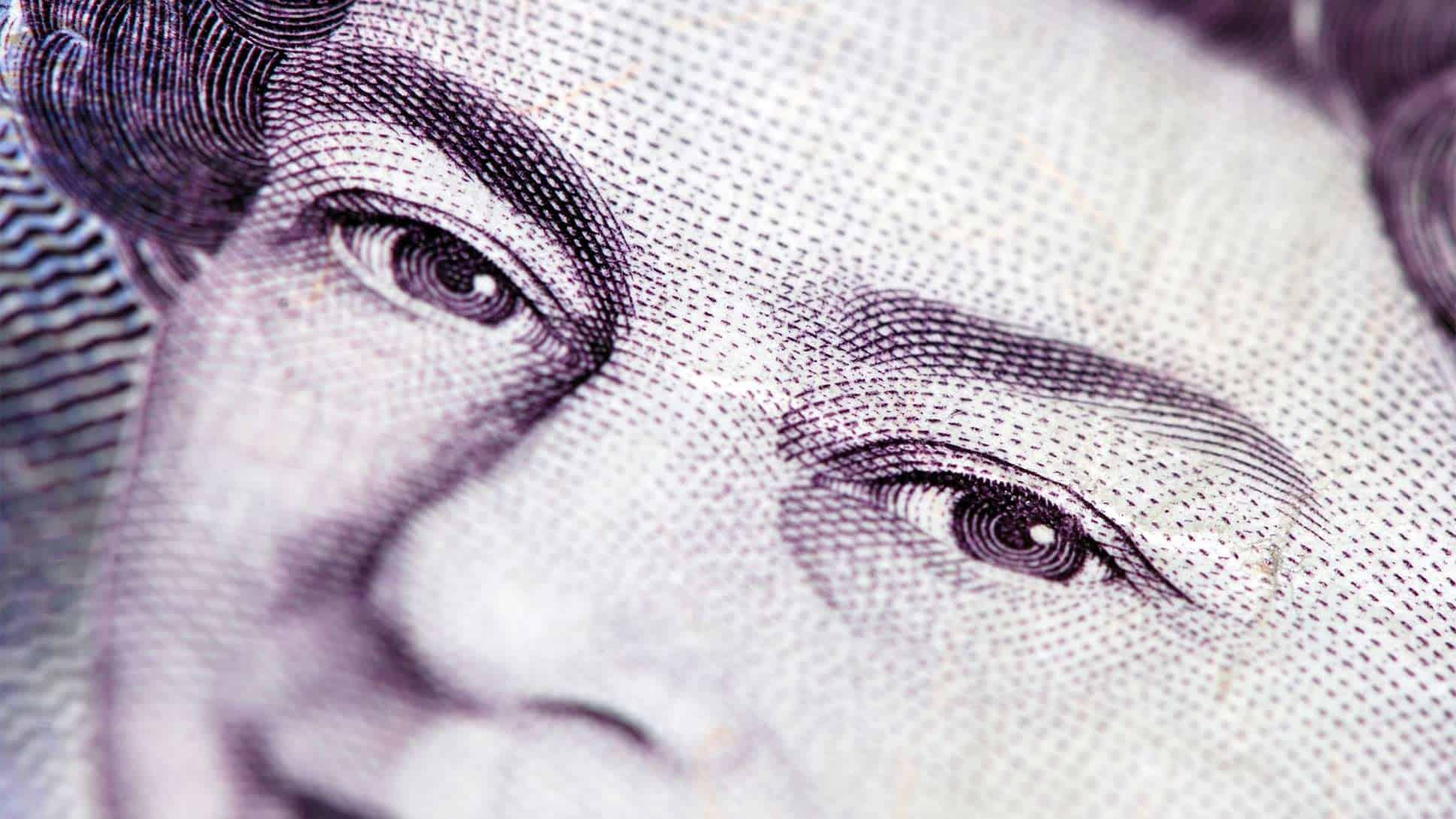 Queen's image on money