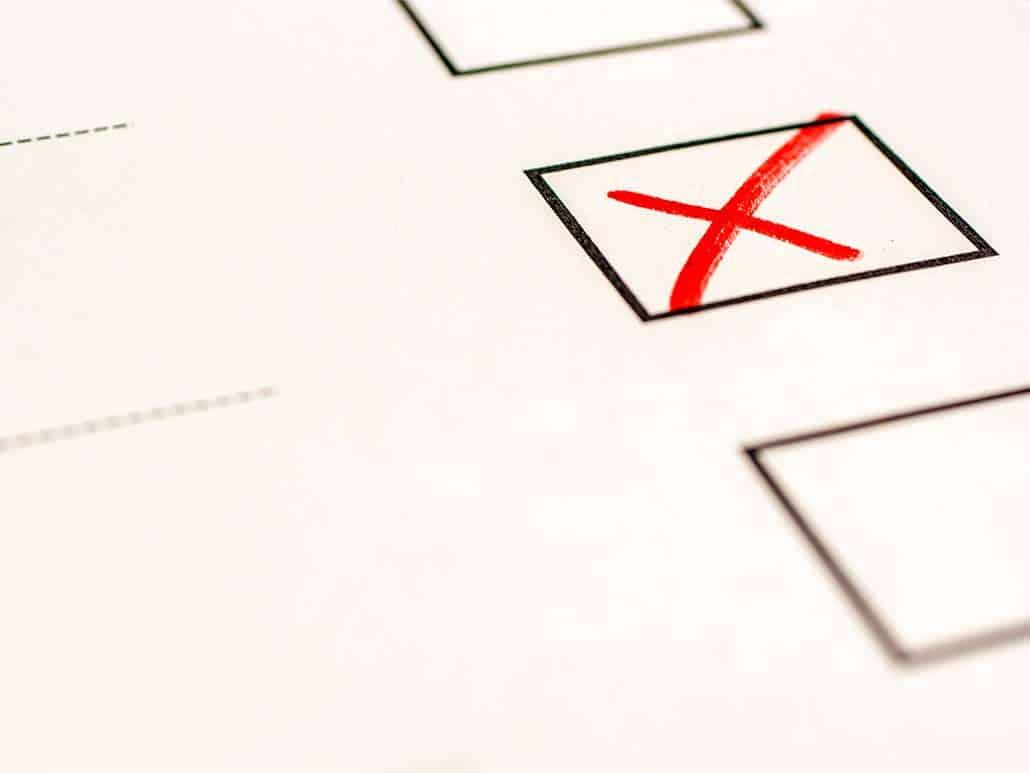 Tick inside a voting box