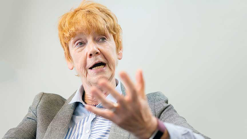 Dame Vera Baird talking to the camera