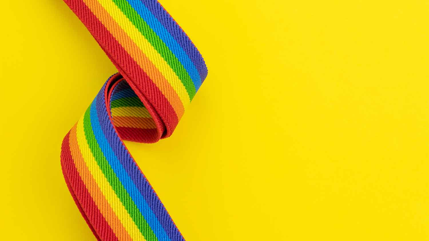 Lanyard with pride rainbow colours