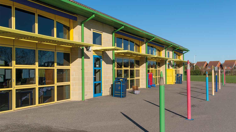 Outside of a school