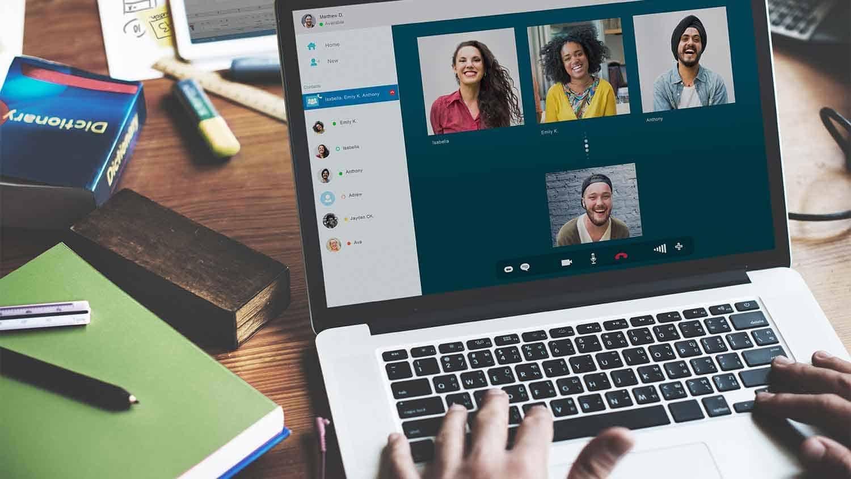an online meeting