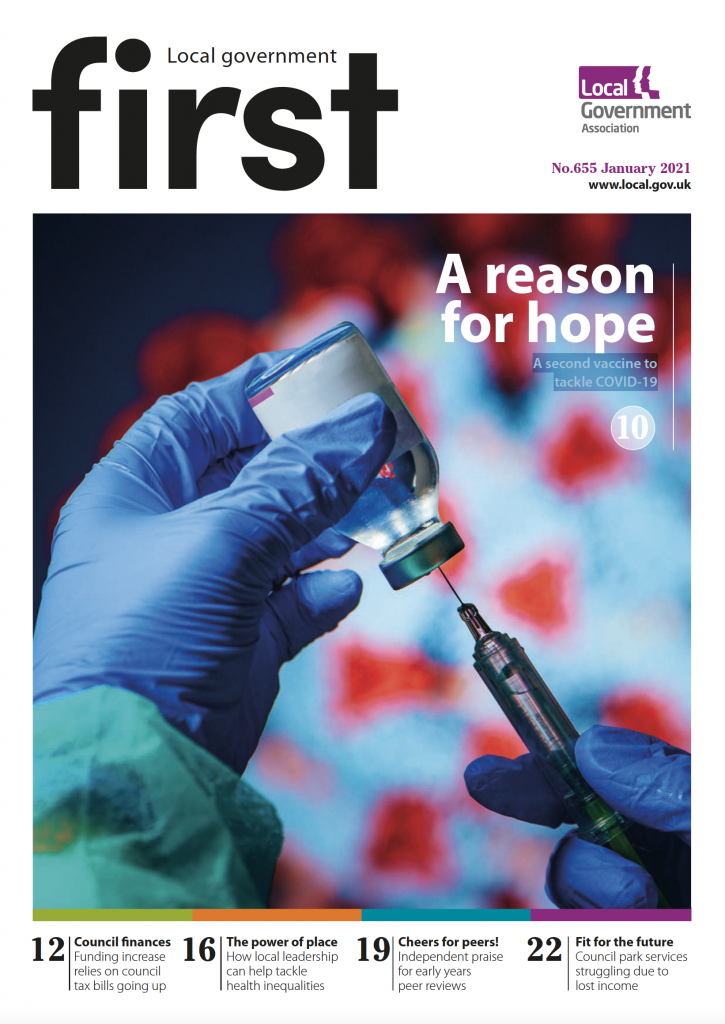 First front cover January 2021