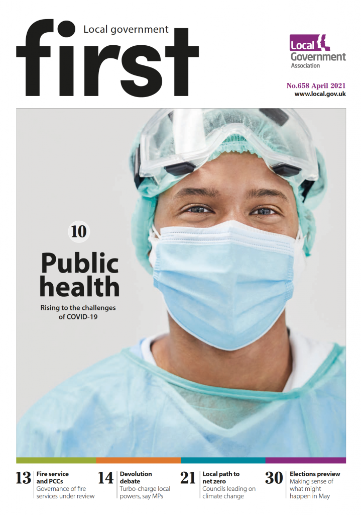 First magazine cover April 2021 - doctor in full PPE