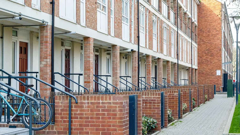 Counncil housing - a small block of flats