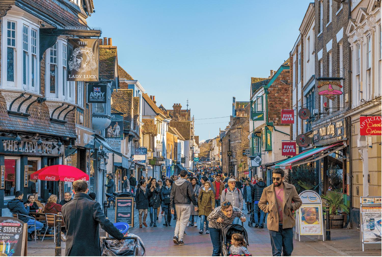 A busy high street