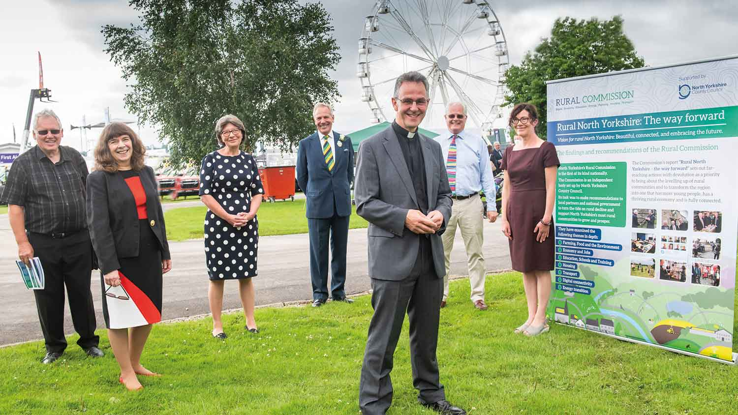 Rural commissioners at the Great Yorkshire Show after the launch of their report